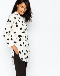 Image 1 ofWhistles Spot Olivia Oversize Shirt