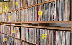 Flipping digitally through John Peel's record collection.