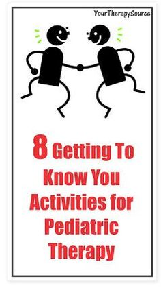 Pediatric Therapy Corner: 8 Getting to Know You Activities for Pediatric Therapy - Pinned by @PediaStaff – Please Visit  ht.ly/63sNt for all our pediatric therapy pins