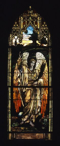 One of three Tiffany windows in Trezevant Hall at Grace-St. This window is titled 'The Evening Angel.' ART Love,ArtStained Glass,Churches and church windows and Gour Stained Glass Church, Stained Glass Art, Stained Glass Windows, Mosaic Glass, Tiffany Stained Glass, Tiffany Glass, Art Nouveau, Church Windows, Angel Art