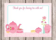 PRINTABLE, Personalized Tea Party Invitations, You Print on Etsy ...