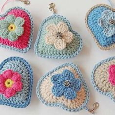 Little heart keychain crochet pattern