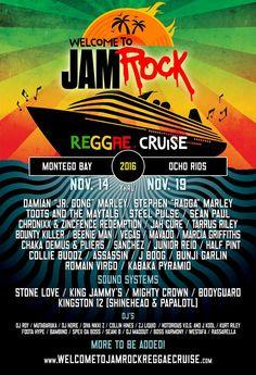 Welcome To Jamrock Reggae Cruise 2016  ##WTJRC #DamianMarley #Jamrock #Marley #Marleyfamily #reggaecruise #WelcomeToJamrockReggaeCruise