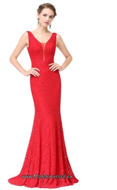 Rotes Meerjungfrau Abendkleid 2017 Stella-Viktoria