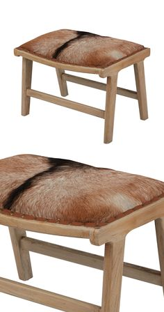 Take a break on this handsome organic hair-on leather ottoman. Made with a sturdy mid-tone wood frame, this natural-hide Montana Plains Ottoman will make a charming addition to your rustic den or count...  Find the Montana Plains Ottoman, as seen in the Urban Cowboy Nashville Collection at http://dotandbo.com/collections/urban-cowboy-nashville?utm_source=pinterest&utm_medium=organic&db_sku=114502