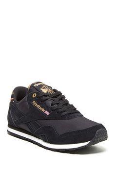 9fc4326a9982 Classic Nylon Slim Exotic Sneaker Casual Chic Style, Shoe Closet, Reebok,  Retro Fashion
