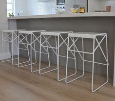 'Winchester' metal kitchen stools from icotraders.co.nz