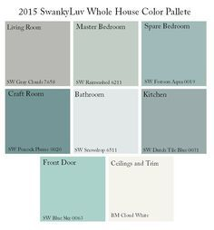 sherwin williams whole house color palette - Google Search love living room and kitchen