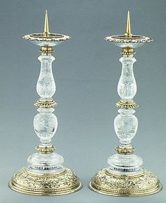 Pair of candlesticks; Southern Germany; Third quarter 16th century