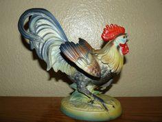 Vintage Porcelain Artmark Fighting Rooster Figurine