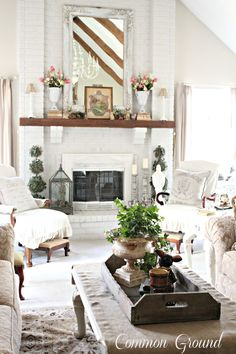 How to decorate living room with high ceilings natural light 63 Ideas for 2019 Ceiling Lights Living Room, Decor, Living Room Images, Drawing Room Furniture, Living Room Furniture Arrangement, Farm House Living Room, Home Living Room, Living Room Wood, Living Room Mantel