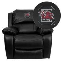 Amazon.com - Flash Furniture South Carolina Gamecocks Embroidered Black Leather Rocker Recliner