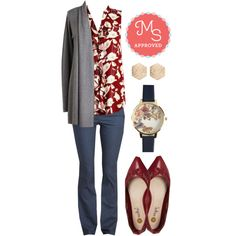 Biennial Bliss Top by modcloth on Polyvore featuring Olivia Burton