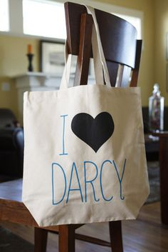 """Show off your love of books with the """"I Heart Darcy"""" tote bag! This cotton canvas tote is wide, tall, with a gusset to hold your stuff. It also features strong handles, and is proudly Jane Austen, Belle Library, Mr Darcy, Man Set, Classic Literature, Got Books, Pride And Prejudice, Hopeless Romantic, Book Nerd"""