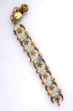 Algeria   Bracelet; metal and enamel   ca. 1932