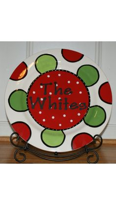 Personalized Christmas Platter www.etsy.com/shop/thethoughtfultulip