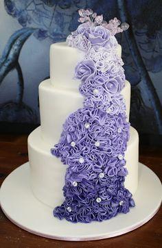 Beautiful Graduating Purple Wedding Cake