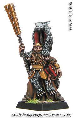 CoolMiniOrNot - Warhammer Empire - Lustrian Priest of Ulric by firedragonstudios
