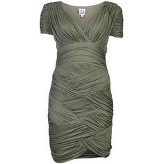 HALSTON HERITAGE Cap sleeve dress ($420) found on Polyvore