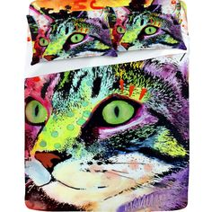 i dont really want these as sheets, but i would love this as wall art...esp if it was one of my cats!