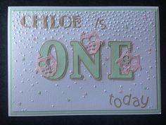 First birthday card (ONE)