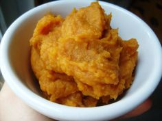 The most delicious mashed sweet potatoes ever! They taste like desert, but they're super healthy!