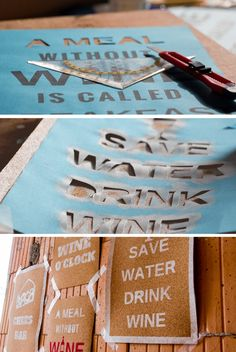 Schilder aus Korken für die Wein und Käsebar selberrmachen. Die Vorlagen dafür findet ihr auf unserer Webseite.