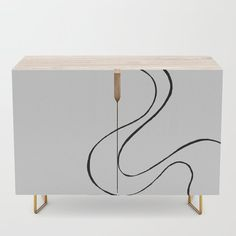 Ebb and Flow 3 - Black and White Credenza by laec | Society6 Ebb, Black Interior, Interior, White Credenza, Bedroom Set, Credenza, Black And White, Home Decor, White