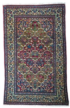 Ispahan rug, Approximately 7ft. 2in. x 4ft. 5in. (218x135cm), rnPersia circa 1920