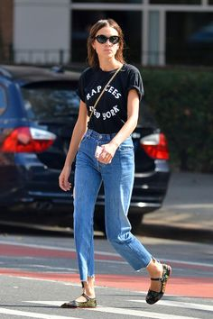 alexa chung looks perfect in everything.