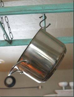 This DIY Pot Rack is one tutorial that will save you time and money when making your own pot rack!
