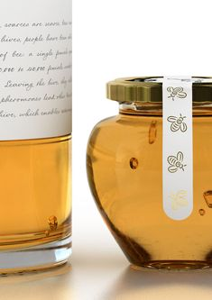 Organic Honey packaging concept by Marcel Buerkle, via Behance