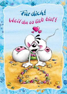 Weil Du so lieb bist!   Diddl   Echte Postkarten online versenden   Diddl- CLS