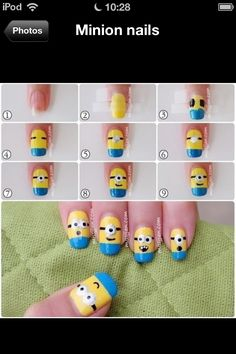 Minion nails step by step