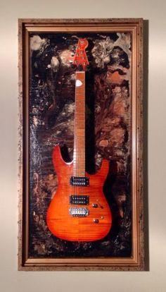 guitar display case shadow box wall hangerholder standhook mount