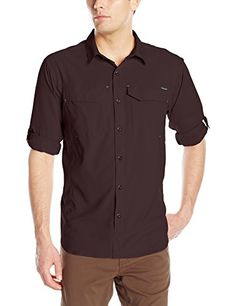 Columbia Mens Silver Ridge Lite Long Sleeve Shirt New Cinder Large >>> Want to know more, click on the image.