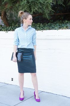 Poor Little It Girl in Madewell Top and Oasis Skirt