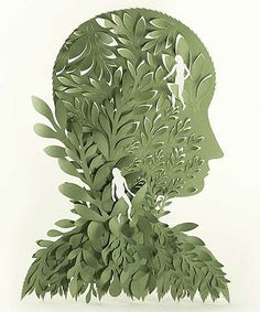 I love paper cut illustrations. This one is beautiful.