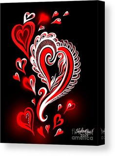 Valentine's Day hearts - 03 Canvas Print / Canvas Art by Sofia Metal Queen Heart Wallpaper, Cellphone Wallpaper, Wallpaper Backgrounds, Cool Background Designs, Drugs Art, Chicano Drawings, Geometric Tattoo Arm, Magic Eyes, Canvas Art