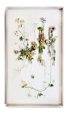 Flower constructions by Anne Tenn Donkelaar  