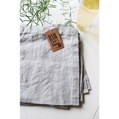 Prewashed Linen Napkin - Dove Grey