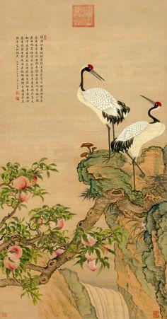 Zou Yigui (鄒一桂) , 清 邹一桂 寿子山水
