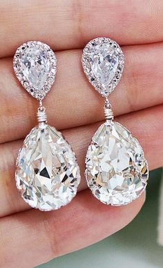 Adoreee these! Very Similar to my wedding earrings. You'll never go wrong.
