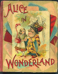 Alice In Wonderland by Lewis Carroll vintage cover Alice In Wonderland Illustrations, Alice In Wonderland Book, Adventures In Wonderland, Vintage Book Covers, Vintage Children's Books, Antique Books, Lewis Carroll, Alice Book, Book Illustration