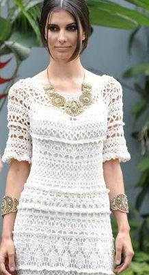 imagens de vestidos de croche vanessa montoro 1 mb - Pesquisa Google