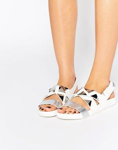 Image 1 of Eeight West Triangle Stud Flat Sandals