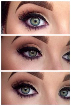 Strong lined eye with a hint of purple - beautiful for blue or green eyes.