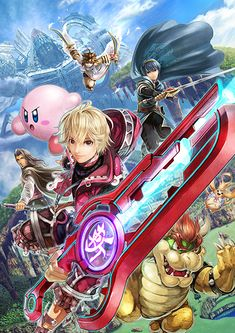 SHULK FORESEES A FIGHT! Ilustración de MONOLITHSOFT New SSB4 Character for Nintendo 3DS & WiiU 2014