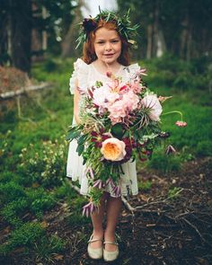 snowy wyoming flower girl