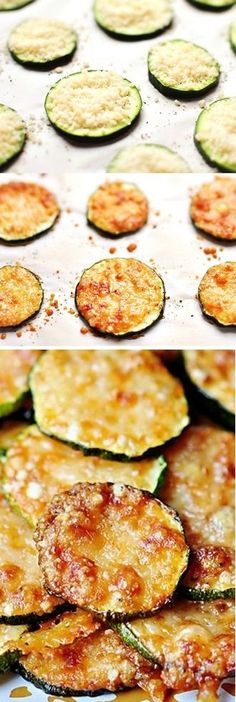 Baked Parmesan Zucchini Rounds 15 min garlic salt pepper preheat 425